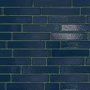 350 Marineblau Longformat brick texture